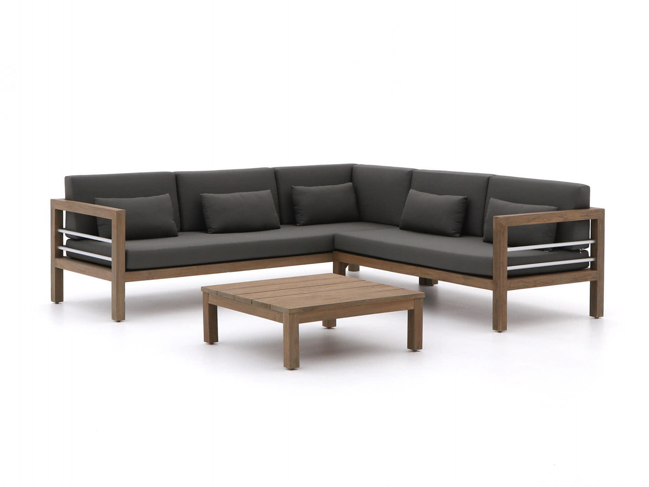 Bijzondere teak loungeset voor buiten