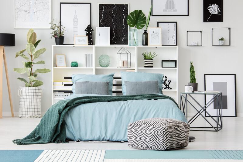 Blauwe slaapkamer inspiratie