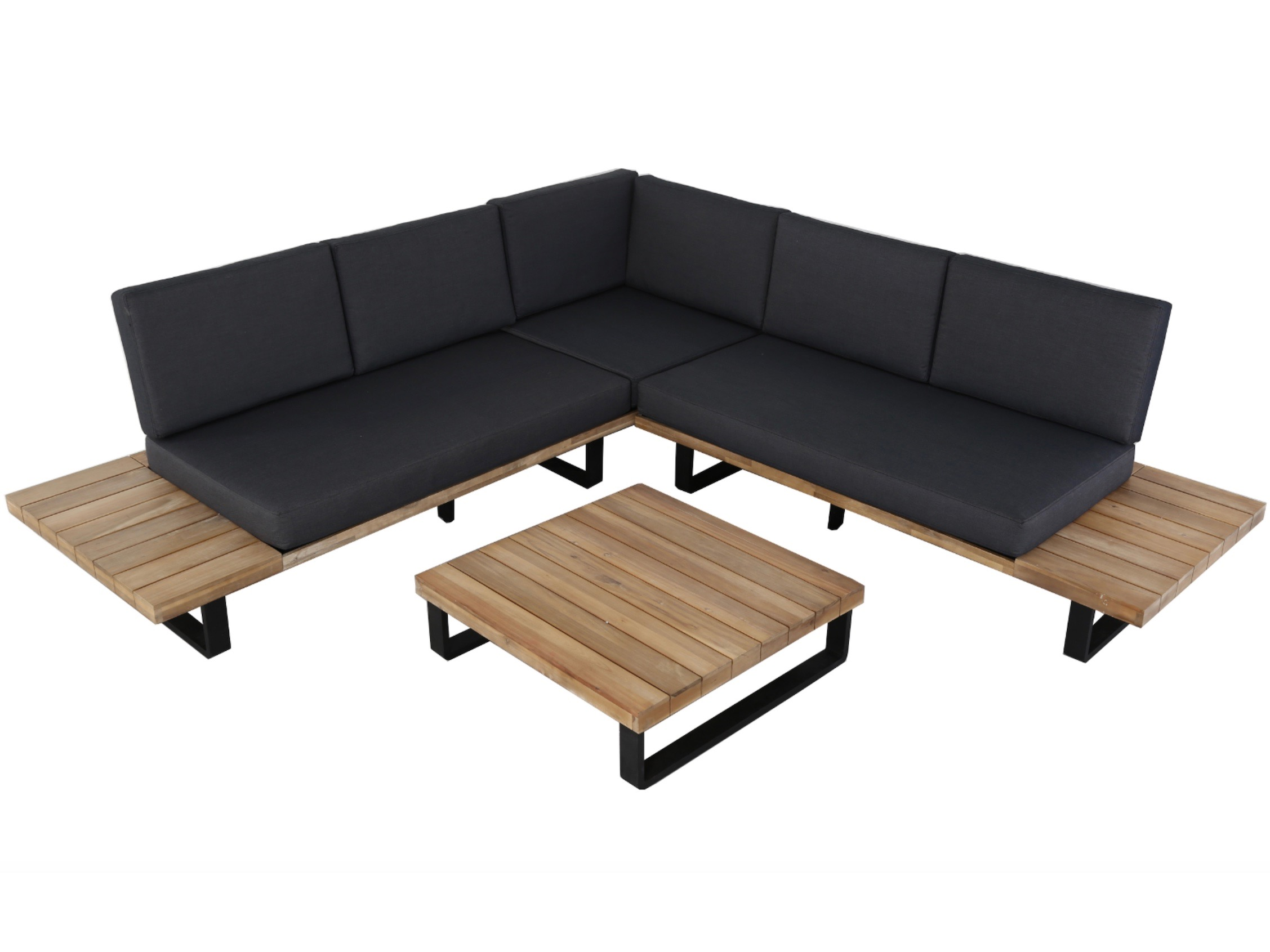 Design loungebank van aluminium