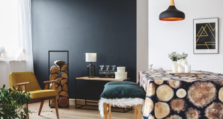 Een zwarte muur stylen