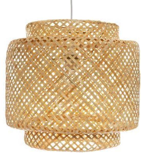 Hanglamp van gevlochten bamboe