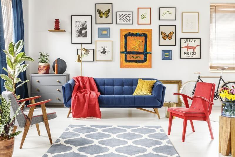 Kleurrijke muurdecoratie