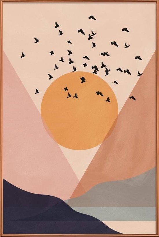Poster met kunststof lijst Sun Flock