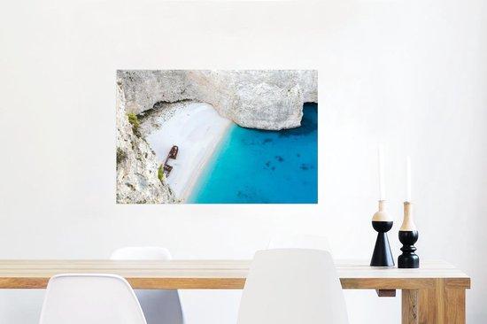 Poster van het witte strand van Navagio