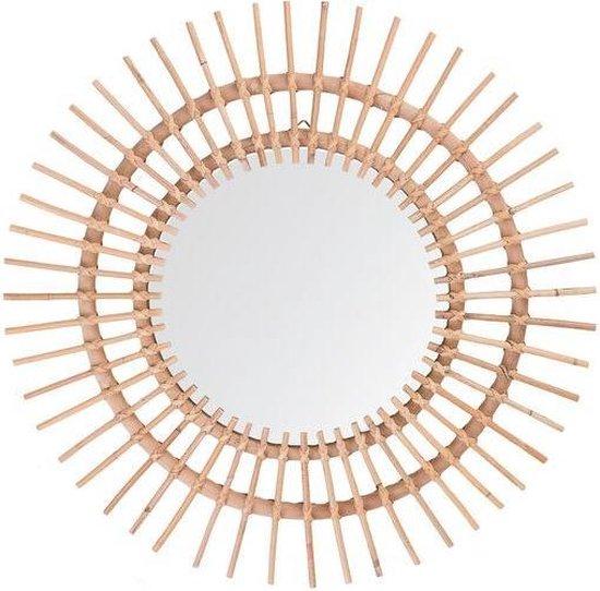 Rotan spiegel bruin