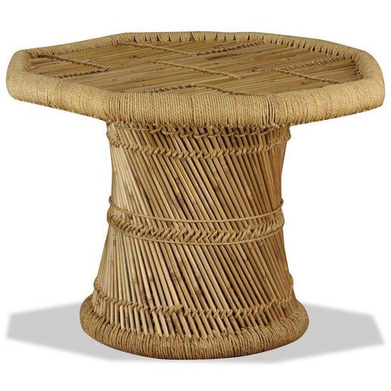 Salontafel achthoekig van bamboe