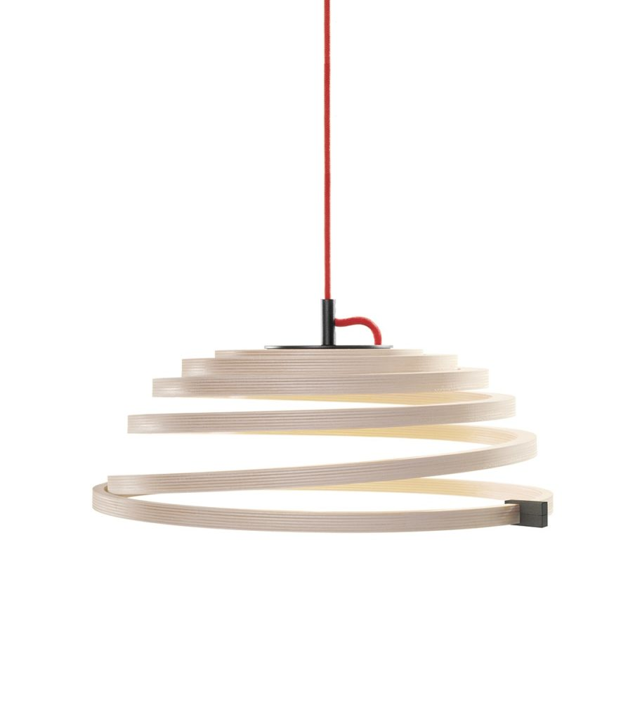 secto-design houten lamp
