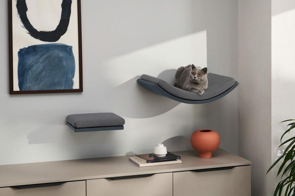 Set van 2 grijze planken voor katten