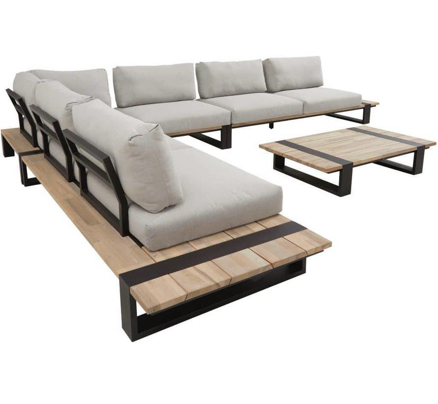 aluminium hoek loungeset voor buiten