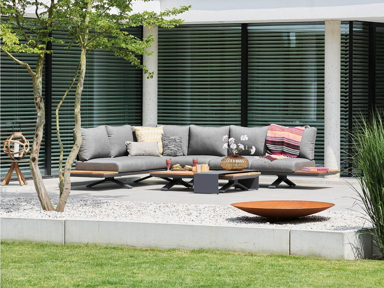 Mooie aluminium hoek loungesets voor in de tuin nieuwe wonen