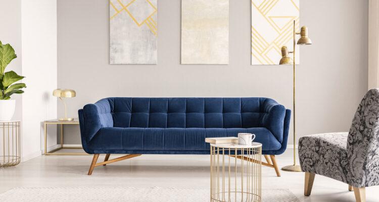 blauw en goud in het interieur