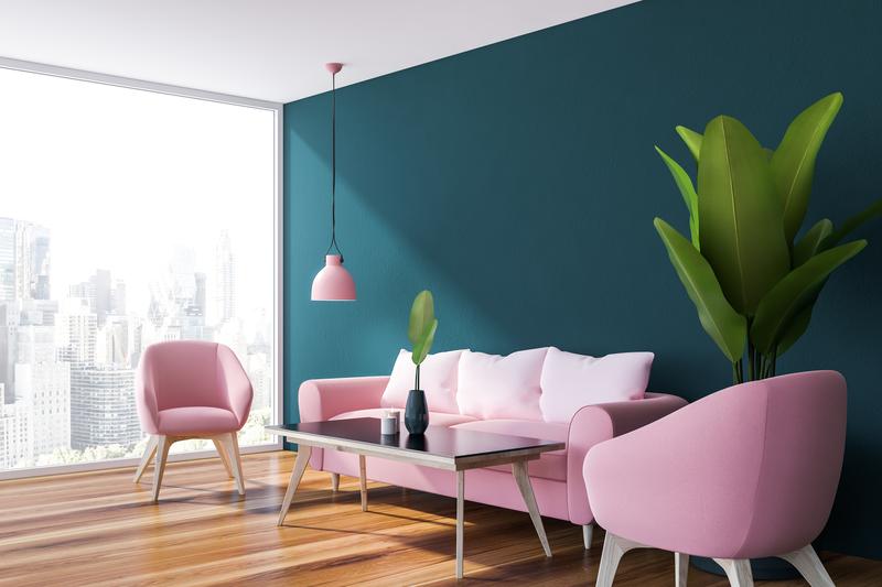 blauwe muur in je interieur