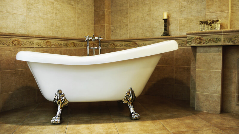 creëer een vintage badkamer