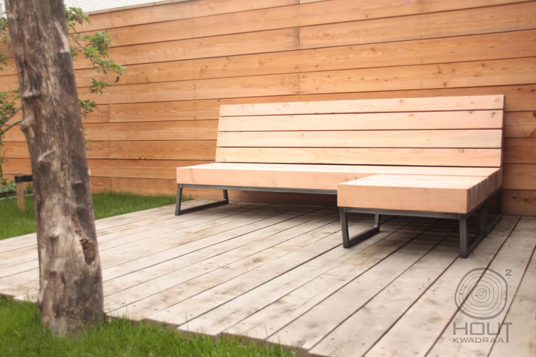 Stoere design loungebank voor in de tuin nieuwe wonen