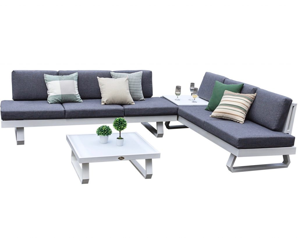 design loungebank aluminium