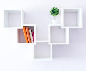 minimalistische boekenplank