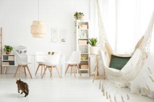 een hangmat in je woonkamer