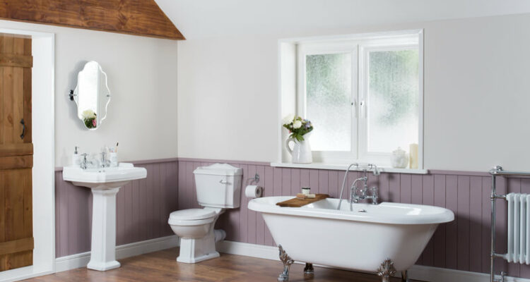 een vintage badkamer maken