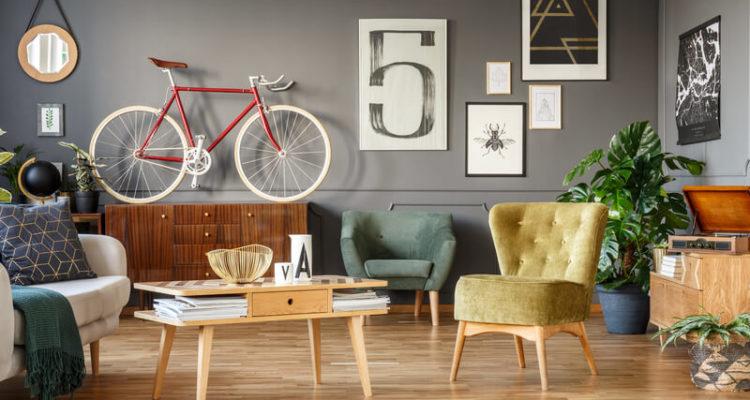 fiets aan de muur ophangen