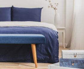 inspiratie voor blauwe slaapkamer