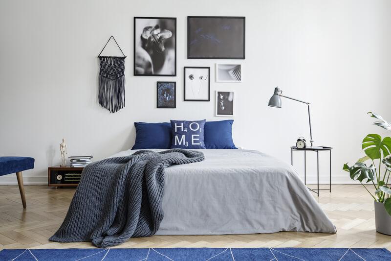 inspiratie voor een blauwe slaapkamer