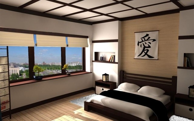 japanse slaapkamer inrichting nieuwe wonen. Black Bedroom Furniture Sets. Home Design Ideas