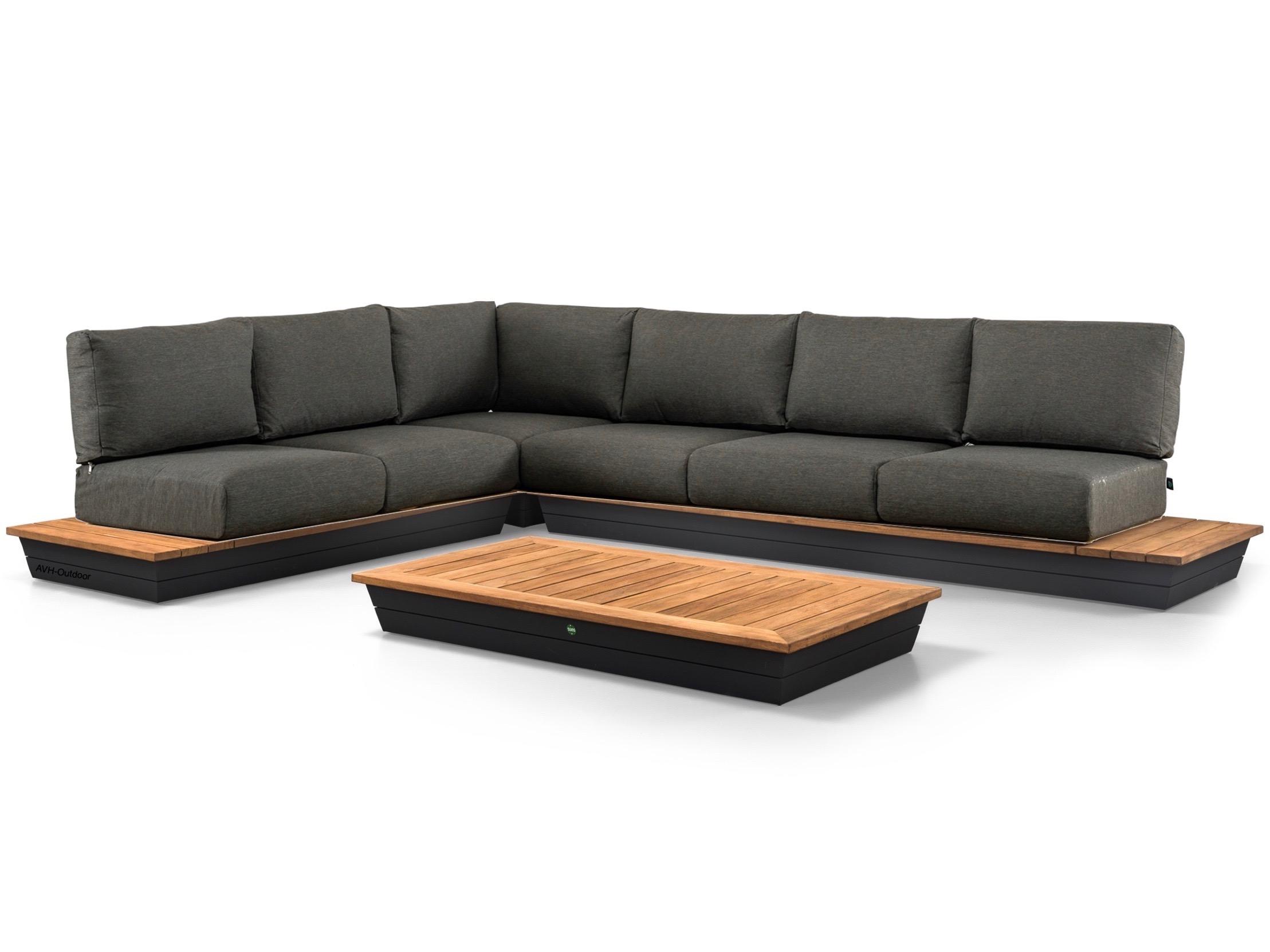 loungeset van teakhout