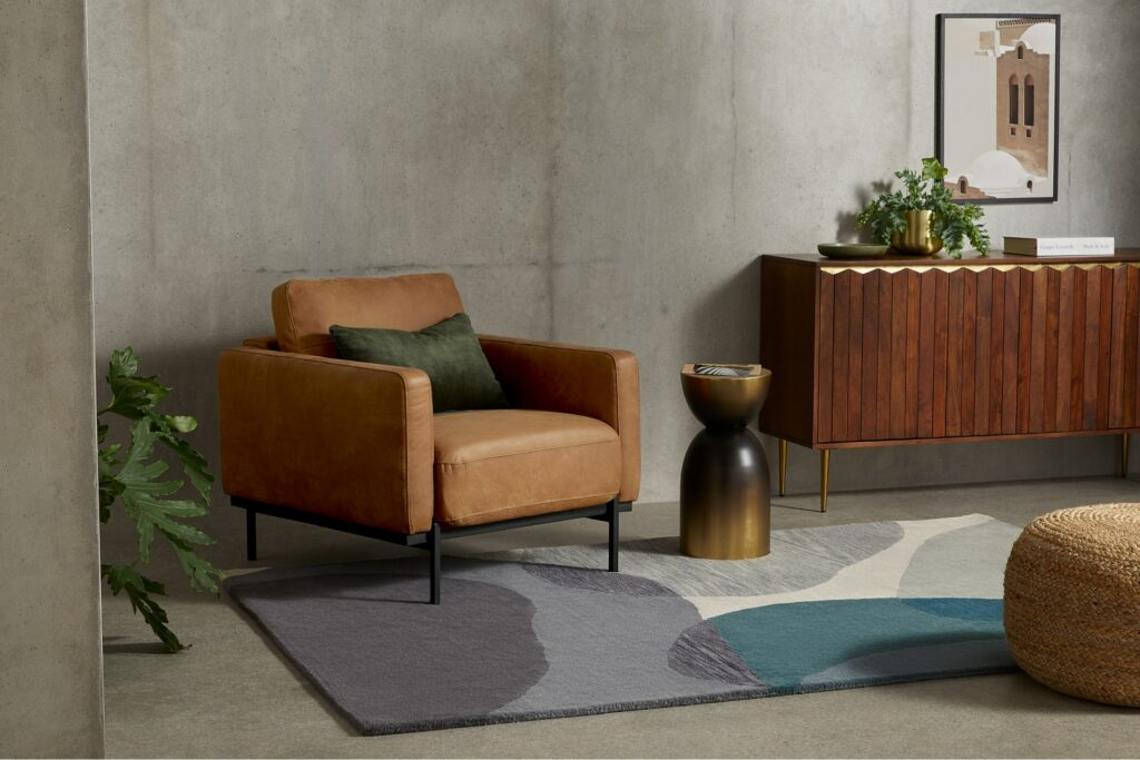 luxe bruine fauteuil