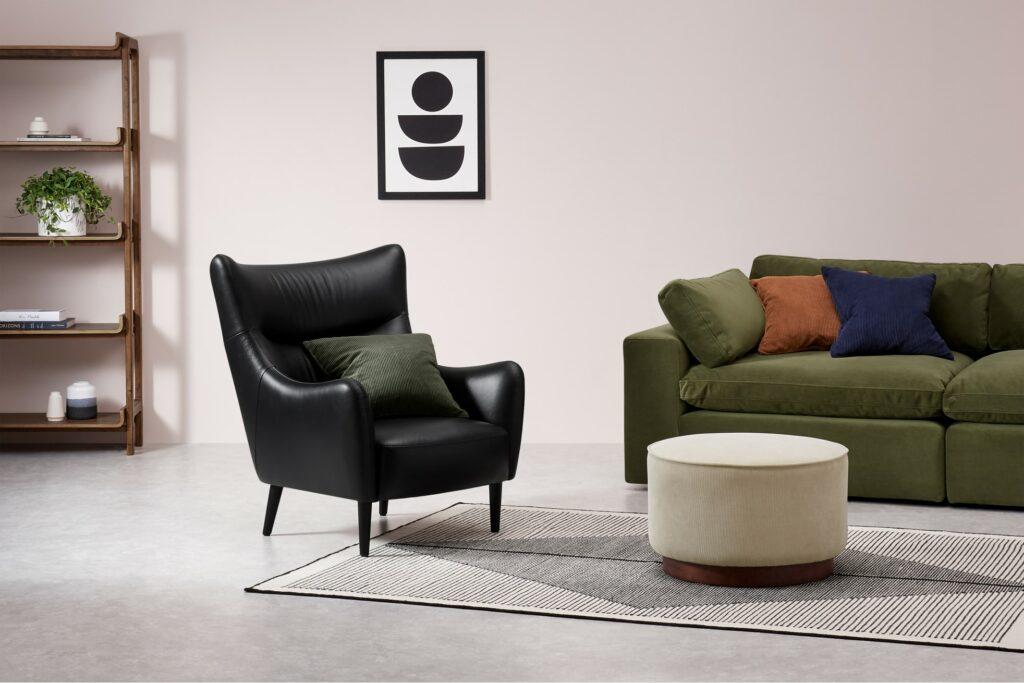 luxe zwarte fauteuil