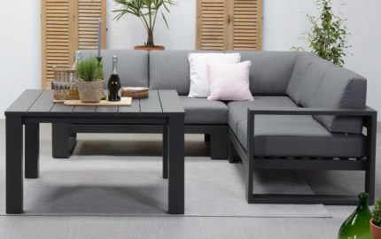 moderne design loungebank aluminium