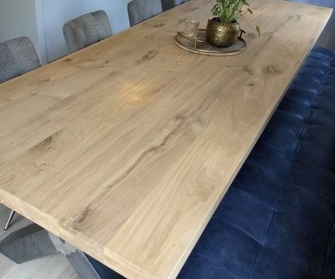 Super Het nieuwe wonen met een sfeervolle eiken tafel! - Nieuwe Wonen MD-93