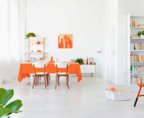 oranje in je interieur