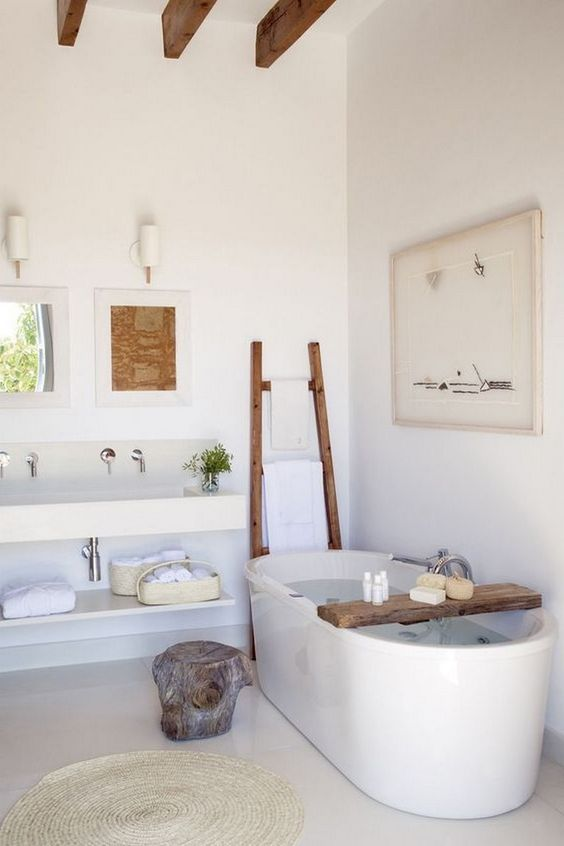 Ongebruikt Veel wit en toch gezellig in een Scandinavische badkamer - Nieuwe HL-65