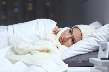 slapen in de winter