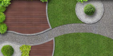 vierkante tuin